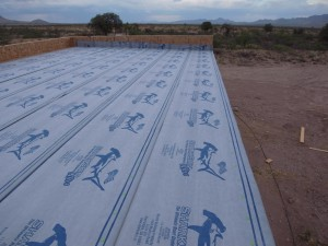 Our underlayment installed