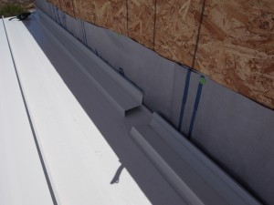 Laid out and waiting to be screwed to the parapet wall