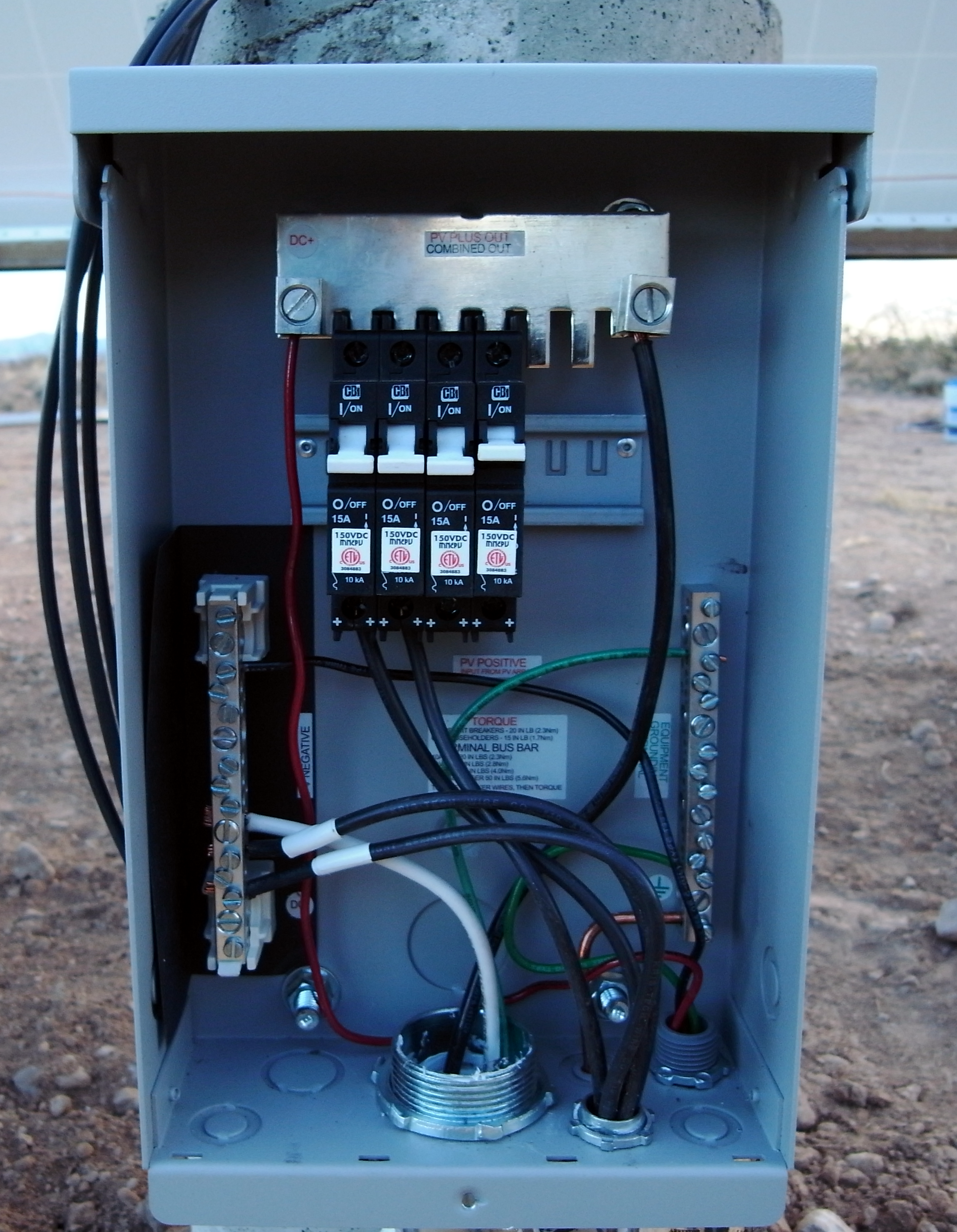 Kb Ranch Blog Archive Wiring The Solar Panels Done Panel Diagram Complete