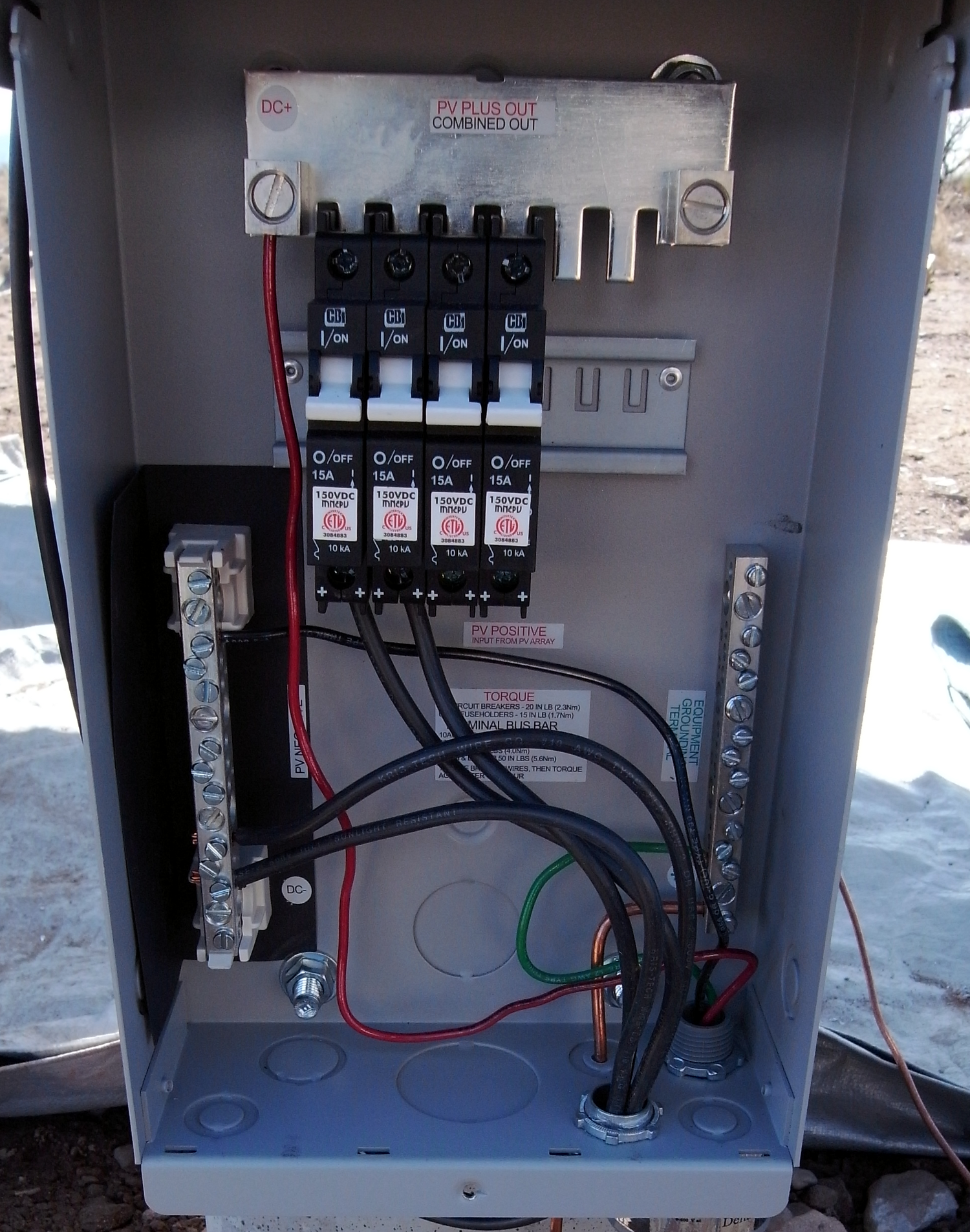 Kb Ranch 187 Blog Archive 187 Wiring The Solar Panels