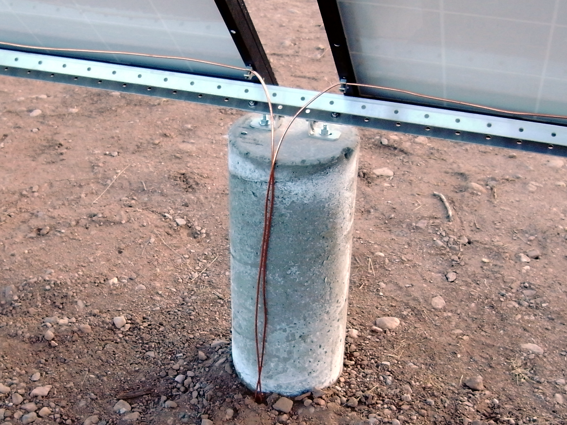 Ground wires attached