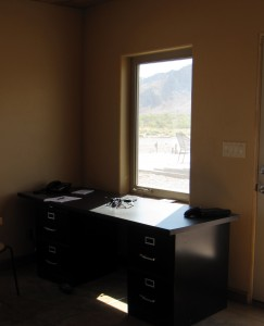 my desk (with the killer view down the canyon)